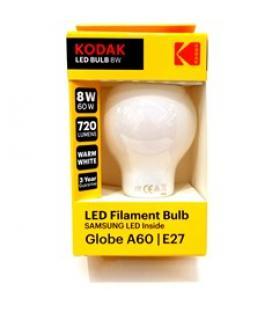 Bombilla kodak filamento opalo a60 - e27 - 720lm - calido 3000k - 6w=48w - no regulable