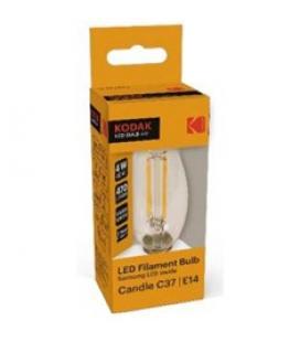 Bombilla kodak filamento cristal c37 - e14 - 470lm - calido 3000k - 4w=40w - no regulable