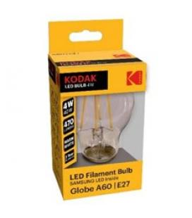Bombilla kodak filamento cristal a60 - e27 - 470lm - calido 3000k - 4w=40w - no regulable