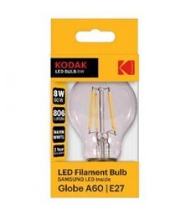Bombilla kodak filamento cristal a60 - e27 - 806lm - calido 3000k - 8w=60w - no regulable