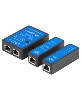 Tester para cableado lanberg nt-0404 - unidad remota - 2*adaptadores bnc - adaptador bnc macho/macho - 3*adaptadores rj45-rj11 -