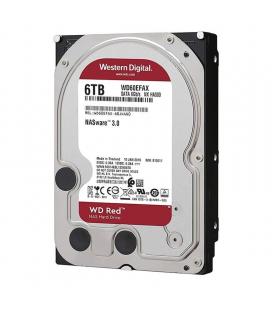 Disco duro interno western digital nas red wd60efax - 6tb - sata iii - 3.5'/ 8.89cm - 256mb