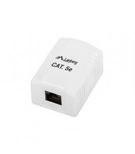 Roseta de pared lanberg ou5-0001-w - 1*rj45 cat.5e - conectores idc/lsa - permite cables 26-22 awg - blanco