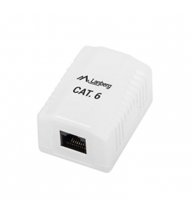 Roseta de pared lanberg ou6-0001-w - 1*rj45 cat.6 - conectores idc/lsa - permite cables 26-22 awg - blanco
