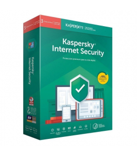 Antivirus kaspersky internet security 2020 - 3 dispositivos - 1 año - no cd