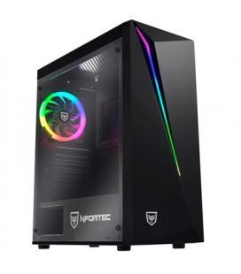 Nfortec Caja Lynx Gaming RGB Negra