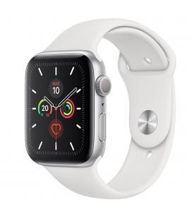 Reloj apple watch series 5 44 mm caja de aluminio con correa deportiva plateado
