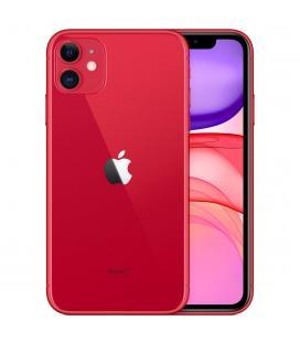 Telefono movil smartphone apple iphone 11 64gb rojo - 6.1pulgadas - dual sim