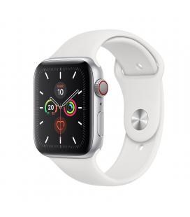 Apple watch series 5 gps cell 44mm caja aluminio plata con correa blanca deportiva - mwwc2ty/a