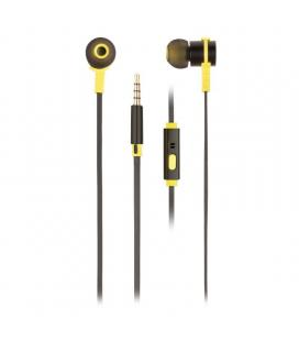Auriculares intrauditivos ngs cross rally black - drivers 9mm - tecnología voz assistant - 20-20hz - 95db - jack 3.5mm - cable