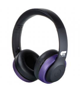 Auriculares bluetooth fonestar harmony-p ot negro/morado - bt 4.2 - dirvers 40mm - batería recargable - jack 3.5 para uso con