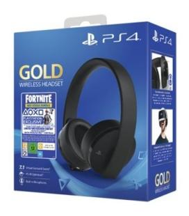 Auriculares sony ps4 gold wireless headset + voucher fortnite 2019