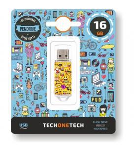 Pendrive tech one tech emojis 16gb - usb 2.0