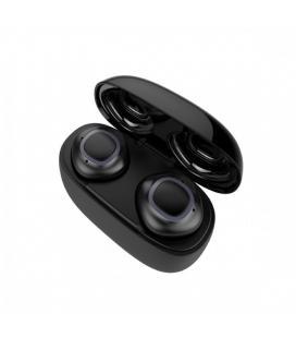 Auriculares bluetooth muvit true wireless estéreo negros - bt5.0+edr - batería auricular 40mah - estuche de carga 500mah -