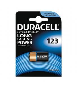 Pila litio duracell ultra m3 dl123 - 3v - no recargable - especial para cámaras