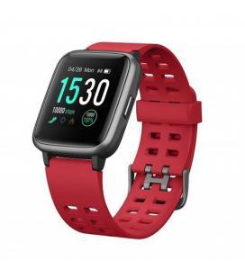 Reloj inteligente leotec multisport fit 814 rojo - pantalla color 3.3cm - bt5.0 - pulsometro dinámico - notificaciones -