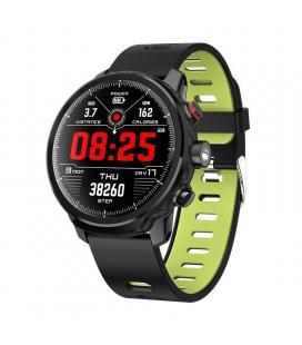Reloj inteligente leotec multisports carbón sport fit verde - esfera 3.3cm táctil color - bt 4.0 - alertas - salud - ip68 - bat
