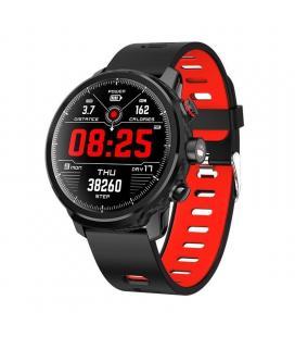 Reloj inteligente leotec multisports carbón sport fit rojo - esfera 3.3cm táctil color - bt 4.0 - alertas - salud - ip68 -