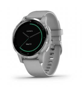 Reloj deportivo con gps garmin vivoactive 4s gris con hebilla plateada - carcasa 40mm - multisport - garmin pay -