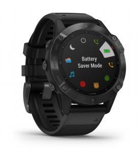 Reloj deportivo con gps garmin fénix 6 pro negro con correa negra - bt - garmin pay - multisport - frecuencia cardiaca - mapas