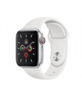 Apple watch series 5 gps cell 40mm caja aluminio plata con correa blanca deportiva - mwx12ty/a - Imagen 1