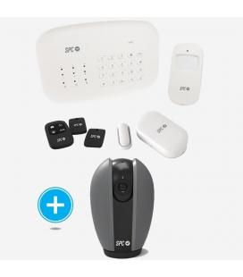 Kit spc 6921k alarma inteligente wifi interceptio + cámara seguridad wifi teia