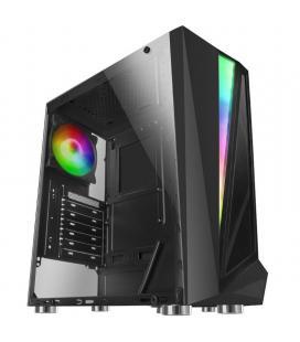 Caja semitorre tacens mars gaming mcl negra - usb 3.0 / 2*usb 2.0 - hd audio/mic - soporta refrigeración líquida - formato