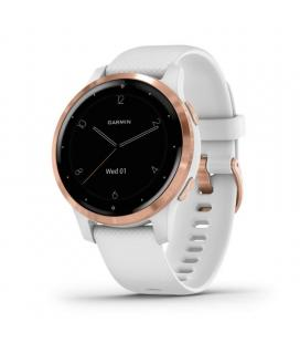 Reloj deportivo con gps garmin vivoactive 4s blanco con hebilla goldrose - carcasa 40mm - multisport - garmin pay -