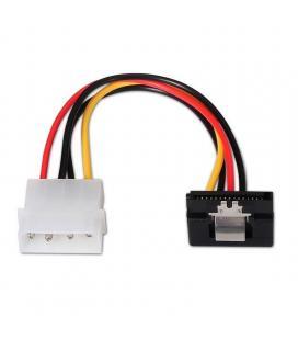 Cable de alimentación sata acodado aisens a131-0163 - molex 4pin/m-sata hembra - 16cm - 100% cobre