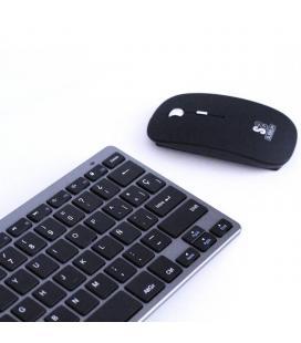 Teclado y ratón subblim oco002 dynamic compact grey - teclado bluetooth 3.0 - ratón óptico 1600dpi - diseño compacto