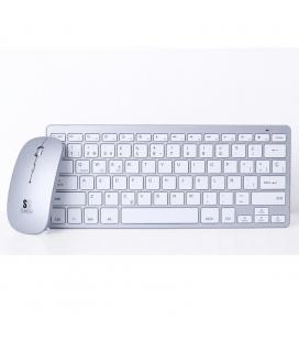 Teclado y ratón subblim oco001 dynamic compact silver - teclado bluetooth 3.0 - ratón óptico 1600dpi - diseño compacto