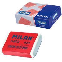 Caja de 24 gomas de borrar de plástico nata con banda de celofán - milán