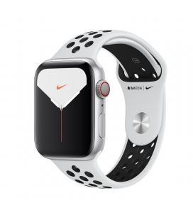 Apple watch nike series 5 gps cell 44mm caja aluminio plata con correa platino puro/negra nike depo