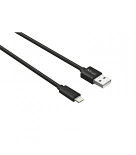 Cable usb a lightning trust urban 22166 - certificado por apple - 1m - negro - Imagen 1
