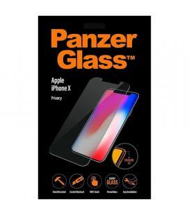 Protector de pantalla panzerglass p2622 para iphone x/xs - cristal templado 0.4mm - bordes redondeados - filtro privacidad