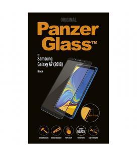 Protector de pantalla panzerglass 7165 para samsung galaxy a7 (2018) negro - cristal templado - borde a borde