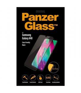 Protector de pantalla panzerglass 7189 para samsung galaxy a40 negro - cristal templado - borde a borde