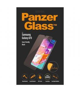 Protector de pantalla panzerglass 7191 para samsung galaxy a70 negro - cristal templado - borde a borde