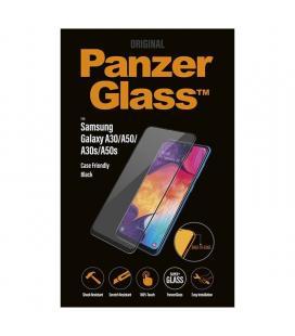 Protector de pantalla panzerglass 7190 para samsung galaxy a30/a50/a30s/a50s negro - cristal templado - borde a borde