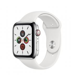 Apple watch series 5 gps cell 44mm caja acero con correa blanca deportiva - mwwf2ty/a