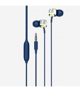 Auriculares intrauditivos spc hype azul - micrófono integrado - botón multifuncion - cable 1.2m - jack 3.5mm