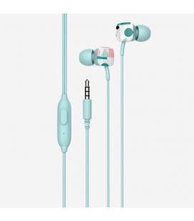 Auriculares intrauditivos spc hype verde - micrófono integrado - botón multifuncion - cable 1.2m - jack 3.5mm