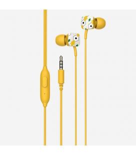 Auriculares intrauditivos spc hype amarillo - micrófono integrado - botón multifuncion - cable 1.2m - jack 3.5mm