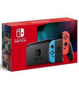Consola nintendo switch red&blue v1.1 - consola + base + 2 mandos joy-con + 2 correas para mandos + soporte + cable hdmi + - Ima