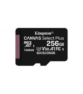 Tarjeta microsd xc kingston canvas select plus - 256gb - clase 10 - lectura 100mb/s - escritura 85mb/s