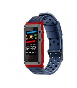 Pulsera cuantificadora leotec funny band blue - pantalla color 2.44cm - bt - multisport - notificaciones - ip67 - bat.120mah - -
