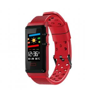 Pulsera cuantificadora leotec funny band red - pantalla color 2.44cm - bt - multisport - notificaciones - ip67 - bat.120mah -