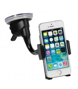 Soporte universal para coche vivanco 35465 - para smartphone móvil hasta 8.5cm - rotación 360º - ventosa para cristal