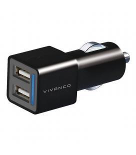 Cargador de coche vivanco 35588 - 2 puertos usb - 12v - max. 10.5w