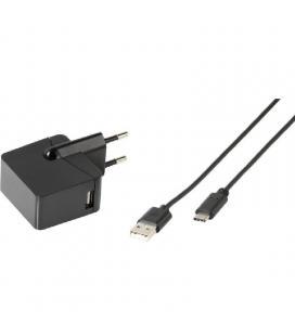 Cargador de pared vivanco 38668 - cable usb a tipo-c - 3a - 1m